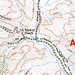 Anza-Borrego Desert State Park, Road and Topographic Recreation Map, California, America.