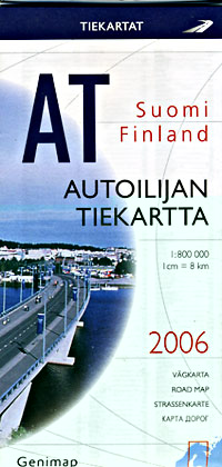 Finland Road and Tourist Map.
