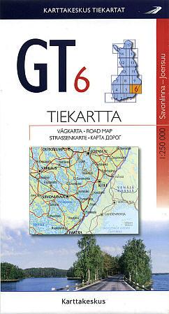 Finland (GT 06 Savonlinna-Joensuu) Road and Tourist Map.