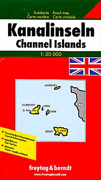 Channel Islands, Road and Shaded Relief Tourist Map.