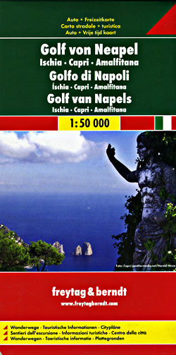 Gulf of Naples, Ischia and Capri Road and Shaded Relief Tourist Map.