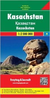 Kazakhstan Road and Tourist Map.