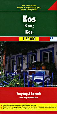 Kos Island Road and Tourist Map.