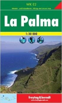 La Palma Hiking Map, Spain.