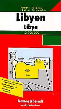 Libya Road and Tourist Map.