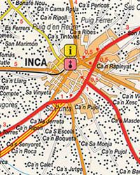 Mallorca Island, Road and Tourist Map, Balearic Isles, Spain.