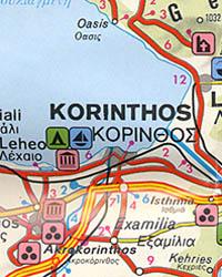 3. Peloponnese (Peloponessus ) and Corinth Regions.