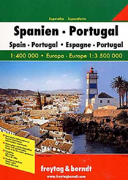 Spain and Portugal, Tourist Road ATLAS.