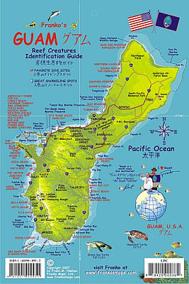 Guam Reef Creatures Guide (Fish Card) Road and Road and Recreation Map, America.
