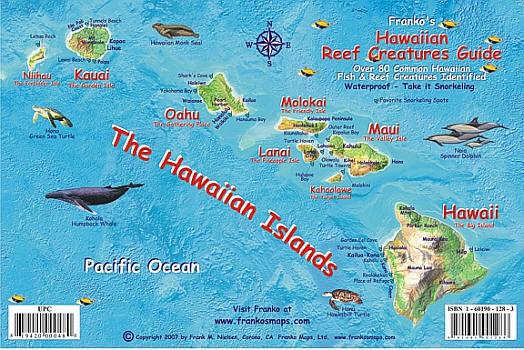 Hawaiian Islands Reef Creatures Guide, America.