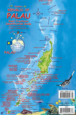 Palau Reef Creatures Guide (Fish Card) Road and Recreation Map, America.