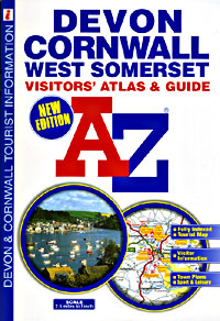 Devon and Cornwall Tourist Road ATLAS.
