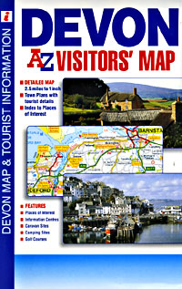 Devon Visitors Road and Tourist Map.