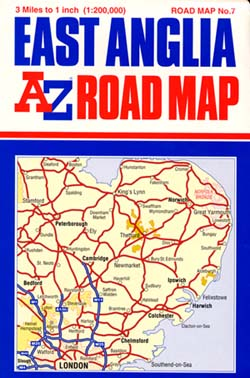 East Anglia Road and Tourist Map.