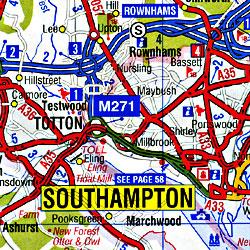 England Southern Regional Tourist Road ATLAS.
