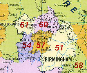 """Great Britain """"New Counties"""" Road and Tourist Map."""
