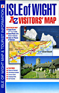 "Isle Of Wight ""Visitors"" Road and Tourist Map."
