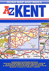 Kent County Road and Tourist Map.
