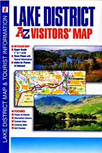 "Lake District ""Visitors"" Road and Tourist Map."