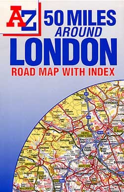 "London ""50 Miles Around"" Road and Tourist Map."