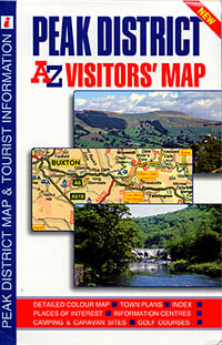 "Peak District ""Visitors"" Road and Tourist Map."