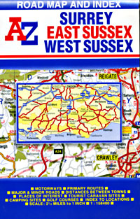 Surrey and Sussex Road and Tourist Map.