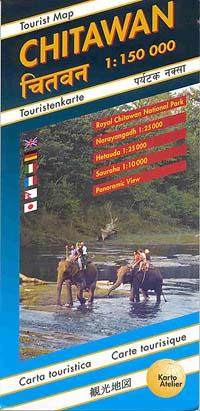 Chitawan, Road and Tourist Map.