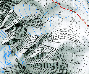 Island Peak, Road and Tourist Map.