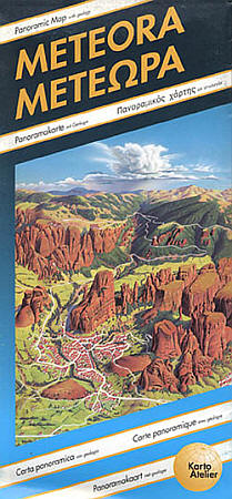 Meteora Road and Tourist Map.