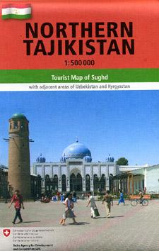 Tajikistan Northern Road and Tourist Map.