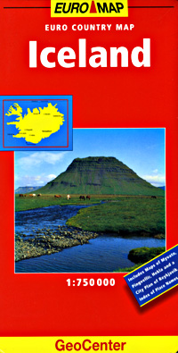 Iceland Road and Tourist Map.