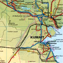 Arabia Road and Tourist Map.
