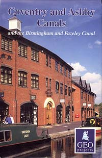 Coventry & Ashby Canals Map, Great Britain.
