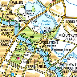 Grand Union Canal Map.