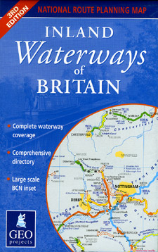 England, Wales and Scotland, Inland Waterways Map.