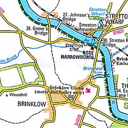 Oxford Canal Map.
