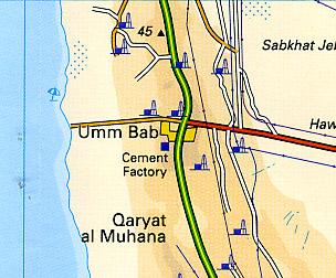 Qatar Road and Tourist Map.