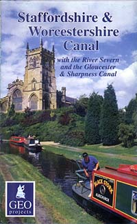 Staffordshire & Worcestershire Canal Map, Great Britain.