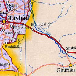 Iran Political Map.