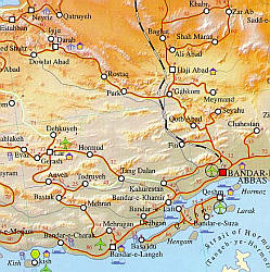 Iran Road and Tourist Map.