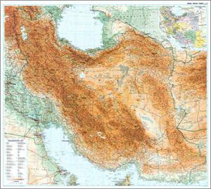 Iran Physical WALL Map.
