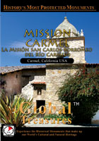 Mission Carmel (La Mision San Carlos Borremeo De Rio Carmelo) California - Travel Video.