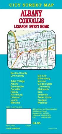 Albany, Americus, Tifton, Bainbridge Street Map, Georgia, America.