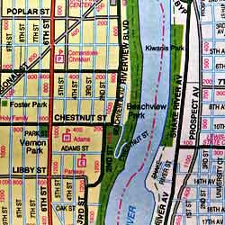 Lewiston and Clarkston, Washington, America.