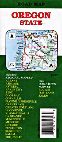 Oregon Road and Tourist Map, America.