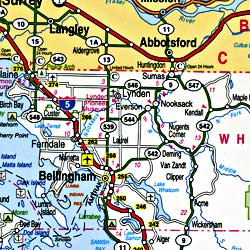 Washington Pearl Road and Tourist Guide map.