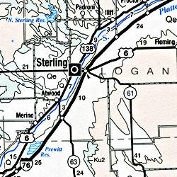 Colorado Geologic Road and Highway Map, Colorado, America.