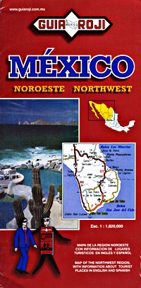 Mexico, Northwest, Road and Tourist Map.