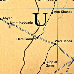 Sudan Road and Tourist Map.