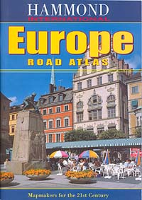 Europe Road and Shaded Relief Tourist ATLAS.